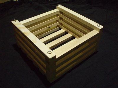 Košík dřevěný (20 x 20cm) - 1