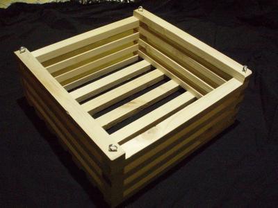 Košík dřevěný (25 x 25cm) - 1