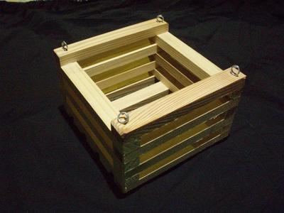 Košík dřevěný (15 x 15cm) - 1