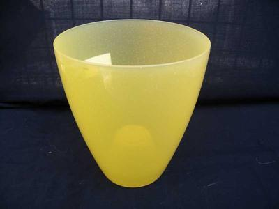 Obal na květináč kulatý - OPAL žlutý - 1