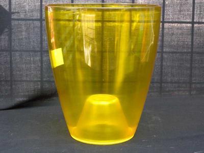 Obal na květináč kulatý - transparentní, žlutý - 1