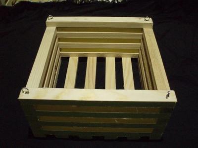 Košík dřevěný (20 x 20cm) - 2
