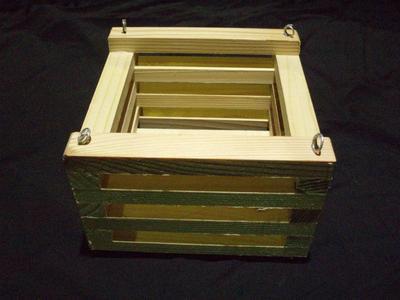 Košík dřevěný (15 x 15cm) - 2