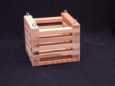 Košík dřevěný (12 x 12cm) - 2