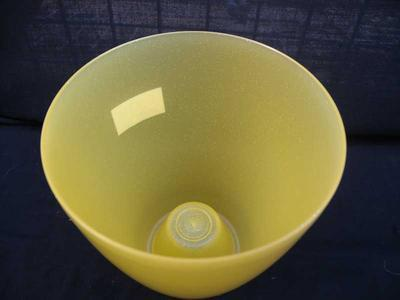 Obal na květináč kulatý - OPAL žlutý - 2