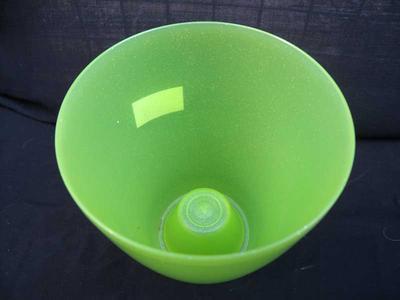 Obal na květináč kulatý - OPAL zelený - 2