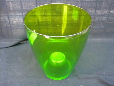 Obal na květináč kulatý - transparentní, zelený - 2
