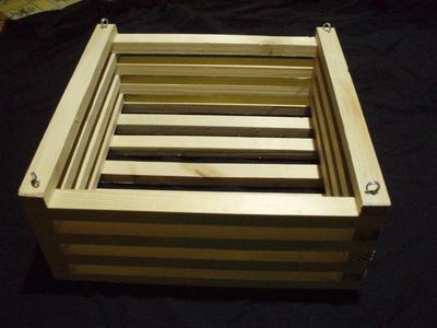 Košík dřevěný (25 x 25cm) - 3