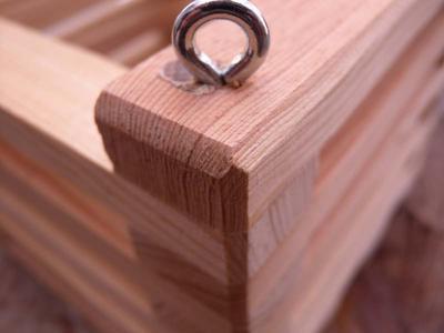 Košík dřevěný (12 x 12cm) - 4
